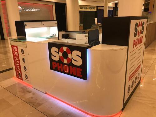 Iluminación stand SOS