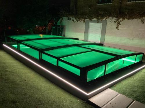 tiras de led piscina electricista mario  verde